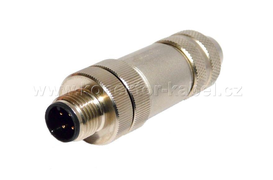 M12 serie / M, 4 pin, shielded, cable conn, BINDER