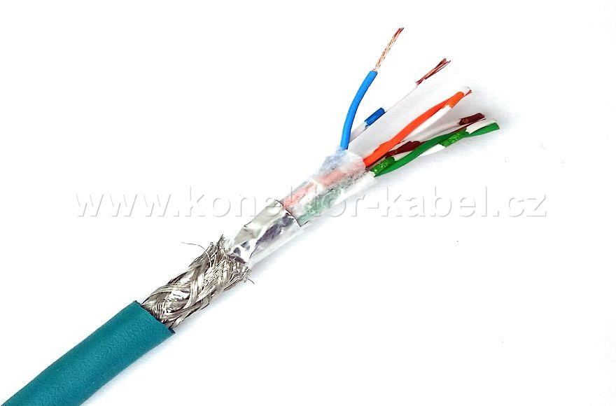 S/FTP 4x(2x26/7 AWG) Cat.5e, lanko, green, LAPP
